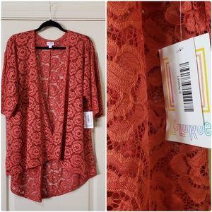 Lindsay Lularoe Kimono S NWT lace